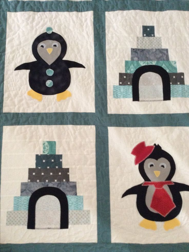 Penguins for Ava Mae  Cot quilt
