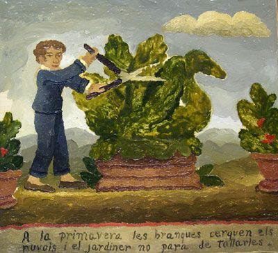 El jardinero de Argentona, 1999, óleo/lienzo, 38x42 cm.