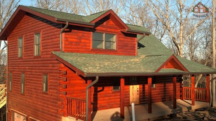 Teak logs and log siding on pinterest for How to stain log cabin