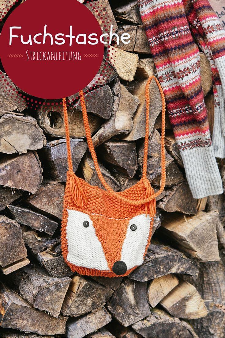 Hier gibt's die Strickanleitung für diese coole Fuchstasche I © 2014 OZ-Verlags-GmbH