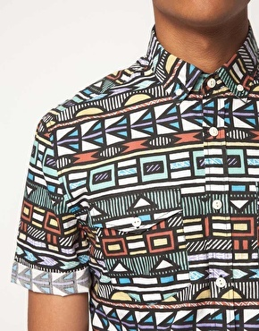 Enlarge ASOS Shirt With Tribal Print