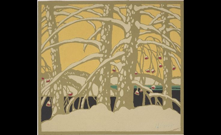 A.J. Casson (1898 1992), Design for Christmas card for Painters of  Canada Series