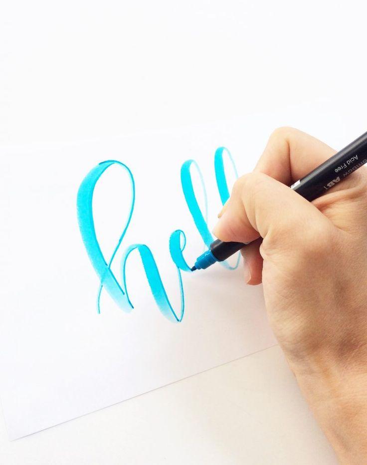 Unique techniques using tombow brush pens