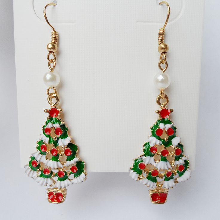 {2016 Kutlayın Noel, yeni Noel küpe, Noel ağacı süsleme kar ve kırmızı meyve kolye, inci Ekleyin uzun kolye