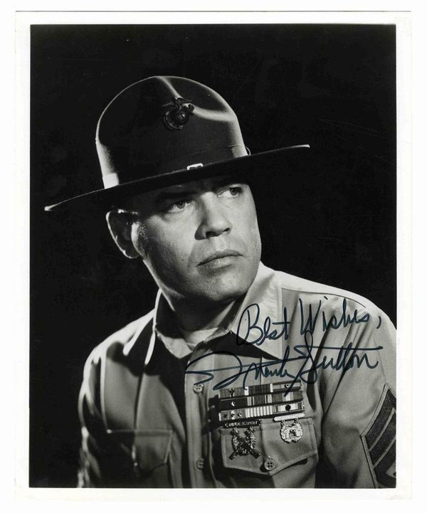 """Actor Sgt Frank Sutton US Army (Served 1943-1946) Short Bio: Best remembered as """"Sgt Carter"""" on TV's """"Gomer Pyle"""" Sutton was assigned to a Joint Assault Signal Company, composed of Army and Navy men. Within.18 months he took part in 14 landings in the Pacific, including Leyte, Luzon, Bataan and Corregidor. When the war ended, he was sent to join the occupation forces in Korea, where he wrote, directed and produced ''The Military Government Hour,'' a radio propaganda program."""