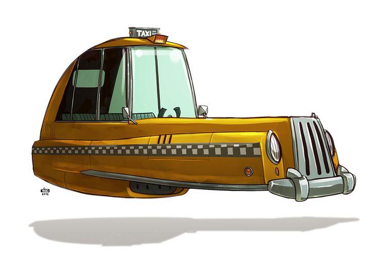 stuff. (by ido yehimovitz): ze future! 8 - Ze Taxi http://artofyido.blogspot.com.es/2013/03/ze-future-8.html