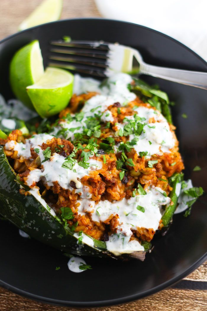 Stuffed Peppers with Lime Crema #CRIOSinspires ad platingandpairings ...