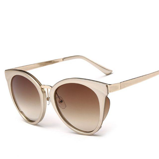 be7c9586c9b5a Óculos de sol da moda mulheres rodada óculos de sol famosa marca Designer  coreano óculos de sol colorido UV400 óculos espelho