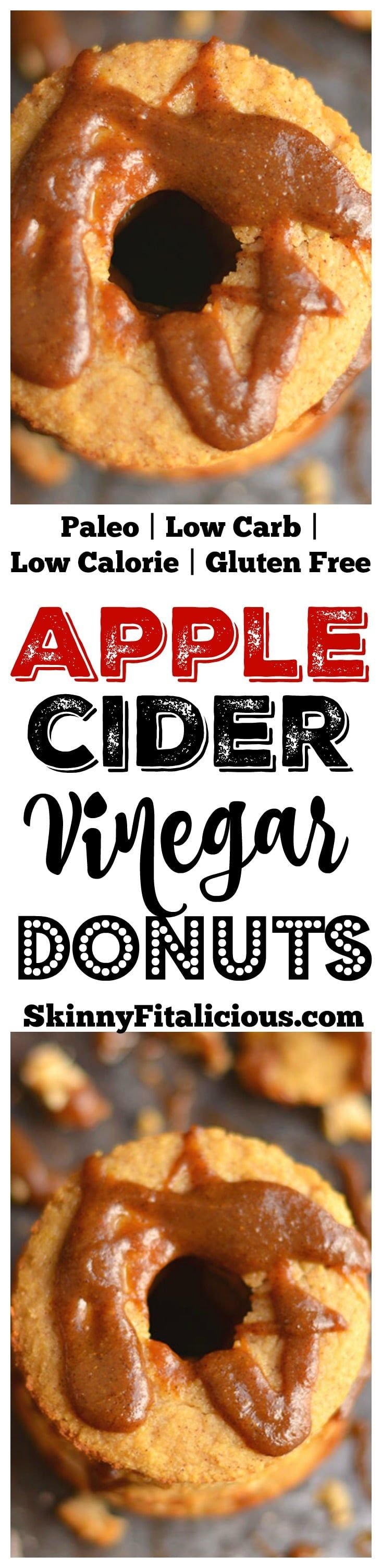 Paleo Apple Cider Vinegar Donuts drizzled in turmeric pumpkin spice latte! These grain free donuts are loaded with fiber, protein and amazing health benefits. A simple every day healthy donut recipe! Gluten Free + Low Calorie + Paleo
