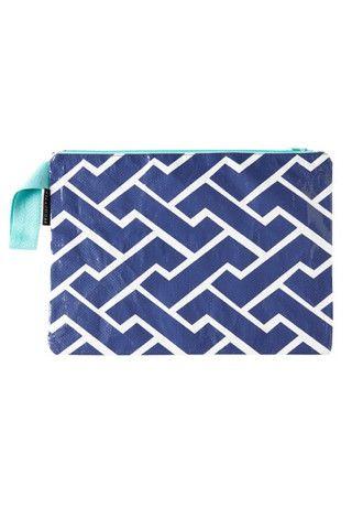 Project Ten Blue Brick Path Envelope Zip Pouch