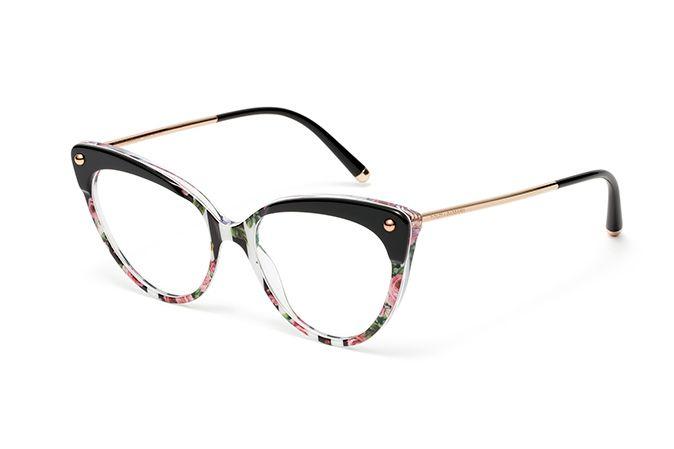2e2b0358e4e Women s stripes   roses cat-eye eyeglasses DG3291