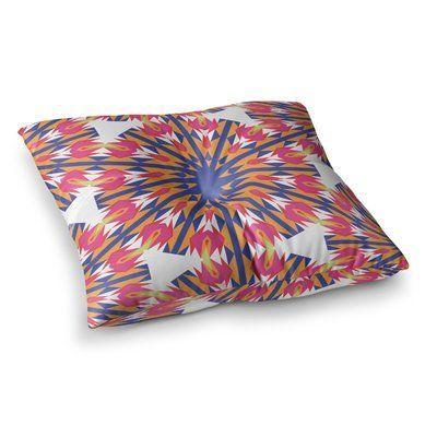 "East Urban Home Miranda Mol Modern Dutch Tulips Square Floor Pillow Size: 23"" x 23"""