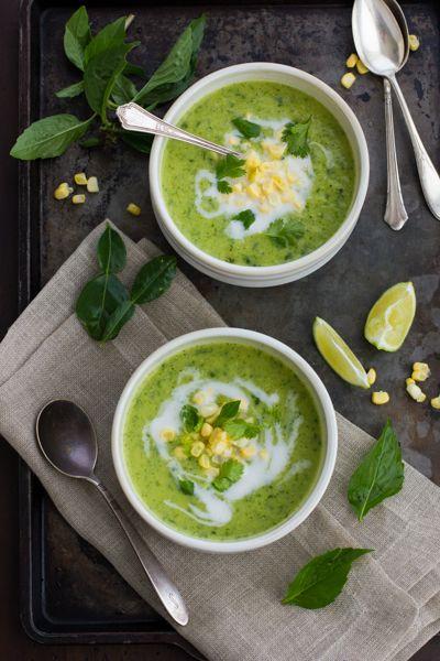 Creamy Thai Zucchini and Corn Soup // YUM!