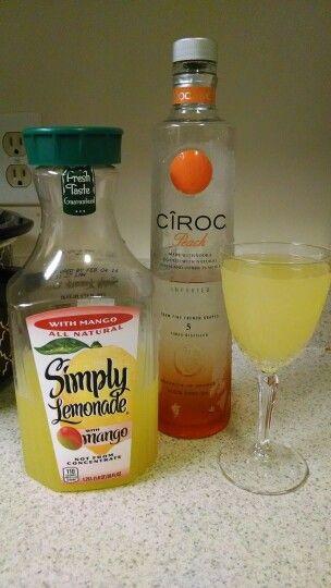Ciroc & Simply Lemonade Mango...Beyond Yummy!!!