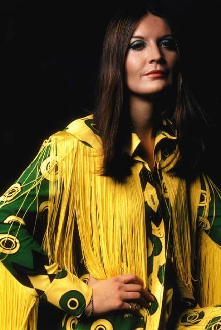 British singer Sandy Shaw wearing Ossie Clark 1960s