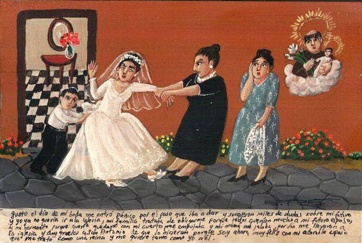 В день свадьбы меня одолели серьезные сомнения, и мне стало не по себе от мысли о замужестве. Я не хотела идти в церковь, и вся моя семья заставляла меня, потому что им очень нравился мой будущий муж. Мой маленький братик особо усердно выпихивал меня, поскольку хотел заполучить мою комнату. Моя мама буквально притащила меня в церковь, и я благодарю Святого Антония за это, поскольку теперь я очень счастлива со своим мужем. Он обращается со мной, как с королевой, и любит меня также, как и я…