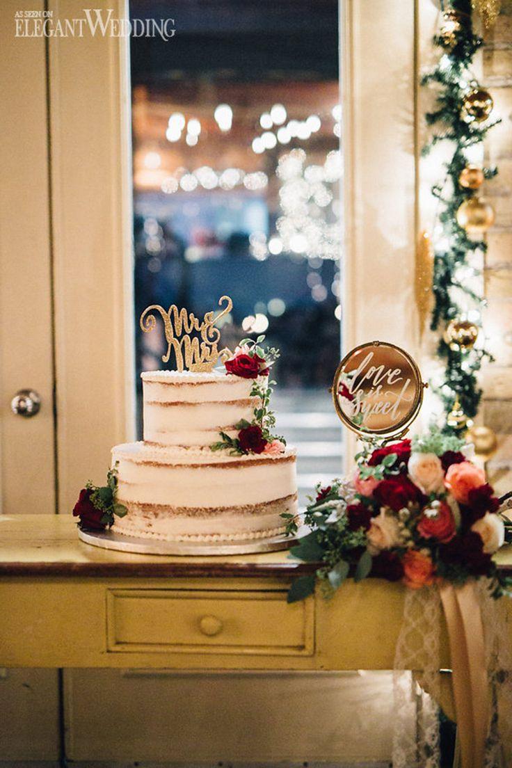 Winter wedding decor and sweet table | VINTAGE 1920s CHRISTMAS WEDDING www.elegantwedding.ca
