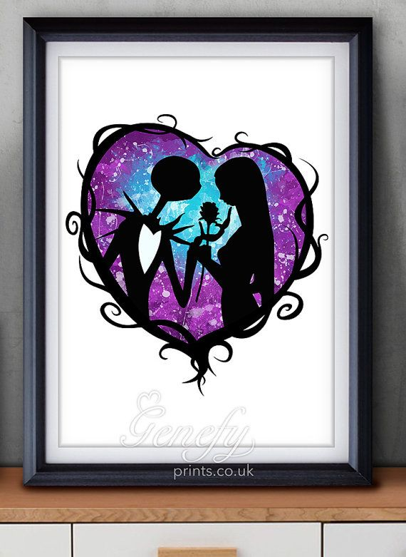 The Nightmare Before Christmas Jack and Sally by GenefyPrints