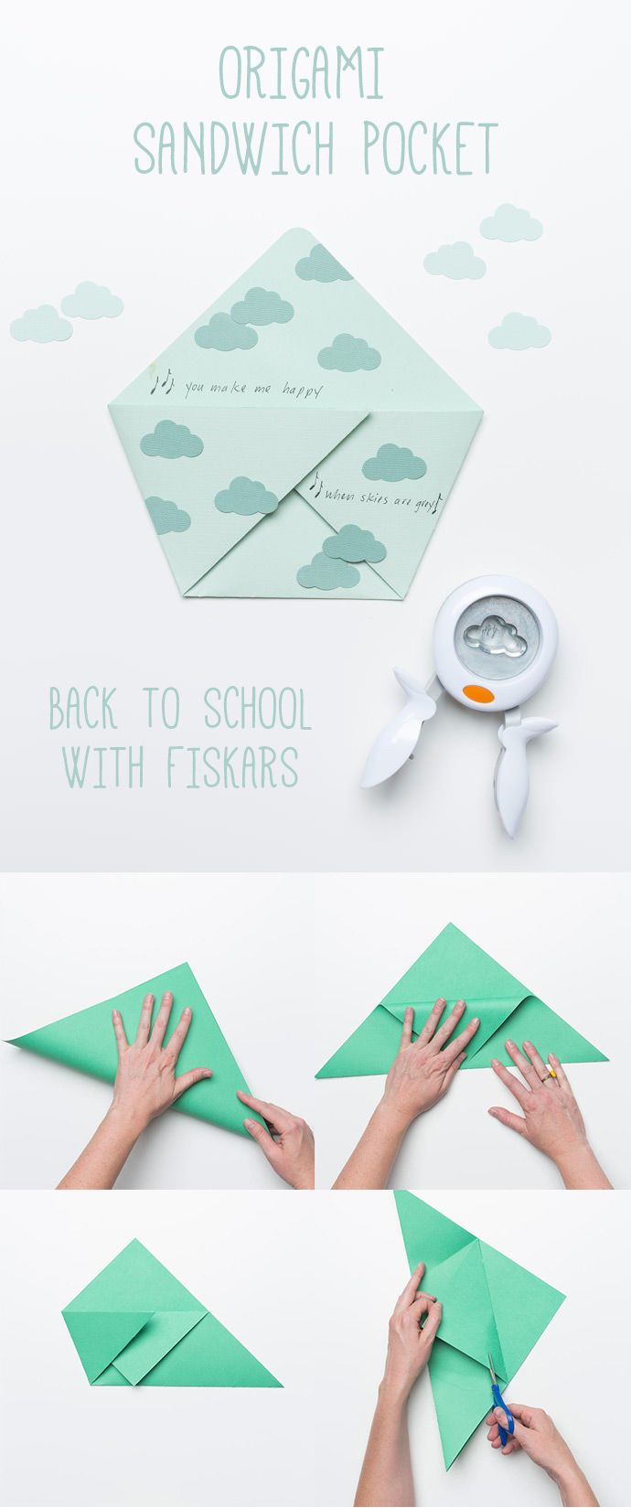 Origami Sandwich Pockets for Back to School