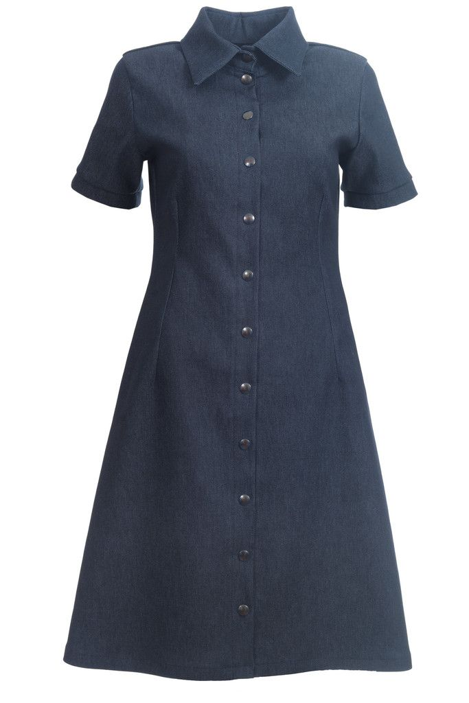 The Winnie dress is a new take on the classic mens shirt.