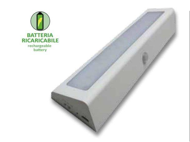 LMP LAMPADA A LED PER ARMADI  CON SENSORE AUTOMATICO PER INTERNO MOBILI/ARMADIO CON BATTERIE LITIO RICAR CON USB MONTAGGIO FACILISSIMO! immagini