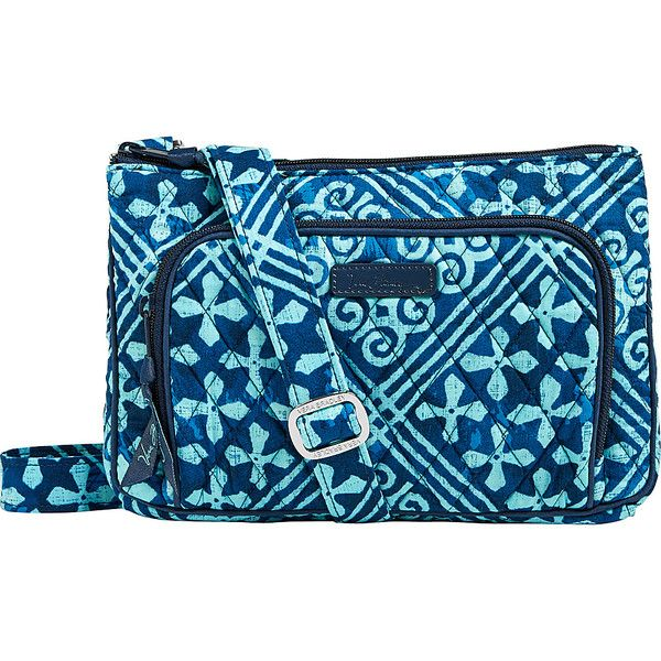 Vera Bradley Little Hipster Crossbody - Cuban Tiles - Crossbody Bags ($45) ❤ liked on Polyvore featuring bags, handbags, shoulder bags, blue, blue crossbody handbag, vera bradley shoulder bag, hipster purses, cross body and blue cross body purse