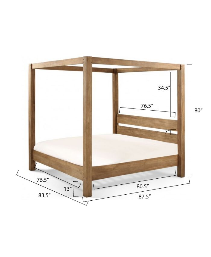 Ana white build a minimalist rustic king canopy bed for Diy poster bed