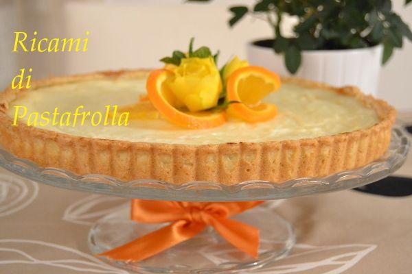 Crostata alla ricotta e marmellata di mandarini