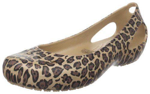 Yes- I do rock the Crocs on occasion- Crocs Women's Kadee Leopard Print Ballet Flat