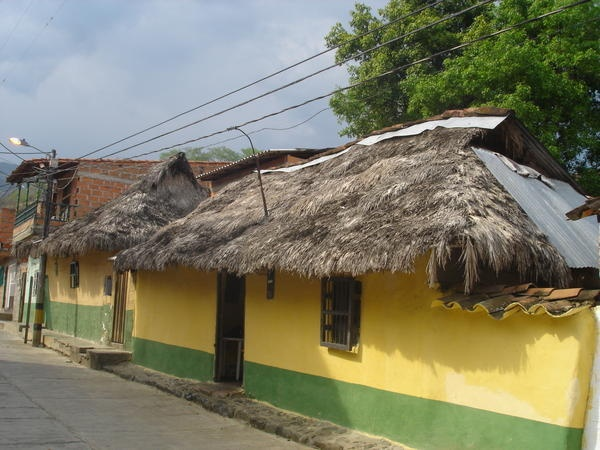 thatched dwelling in Santa Fe De Antioquia, Colombia
