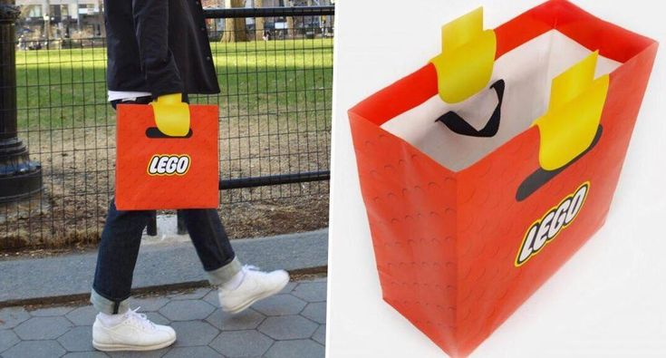 So...this LEGO bag turns your hand into an actual Lego. Picture: Adeevee/New York School of Visual Arts