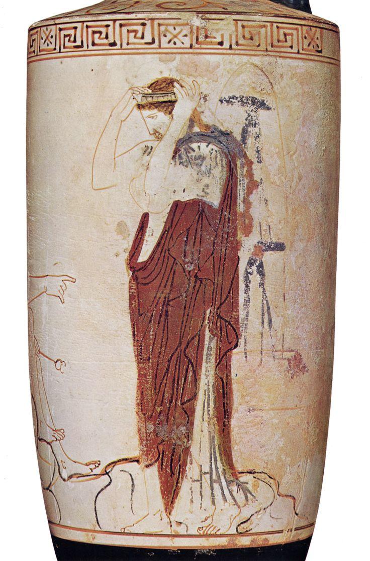 hermes birkin bag outlet - Etruscan white lekythos C.550BC | Story Fodder | Pinterest | The ...