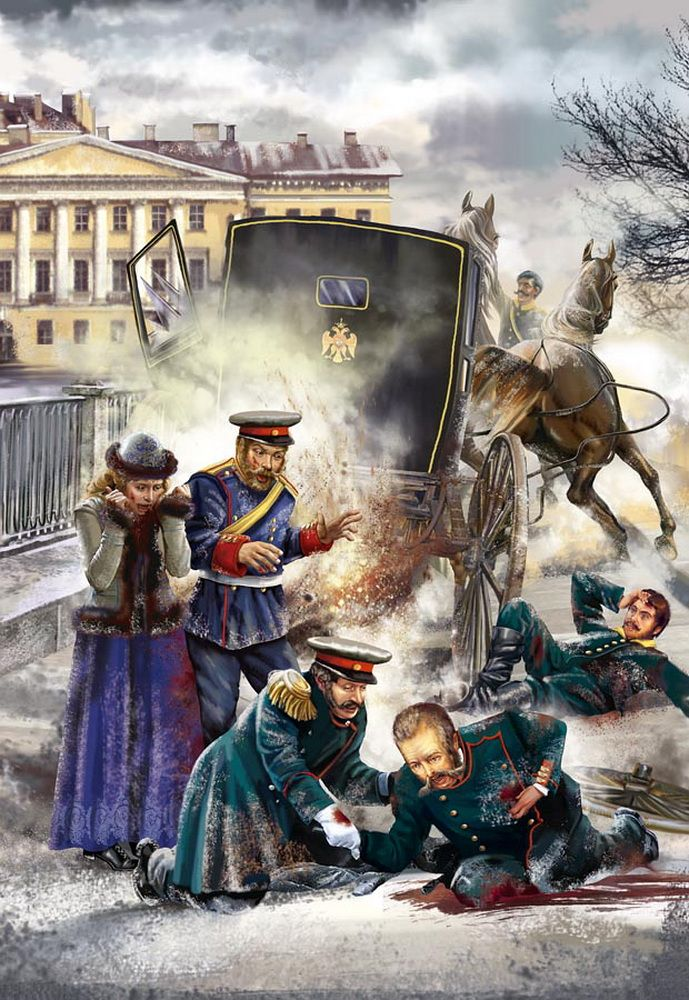 "The murder of Alexander II ""Sasha"" (Alexander Nikolaevich ..."
