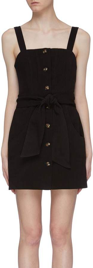 C/Meo Collective 'Collisions' belted button front sleeveless dress