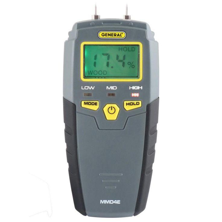 General Tools Pin-Type Digital Moisture Meter with LCD Display