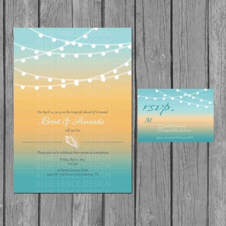 beachy wedding invitations Check more image at http://bybrilliant.com/2755/beachy-wedding-invitations