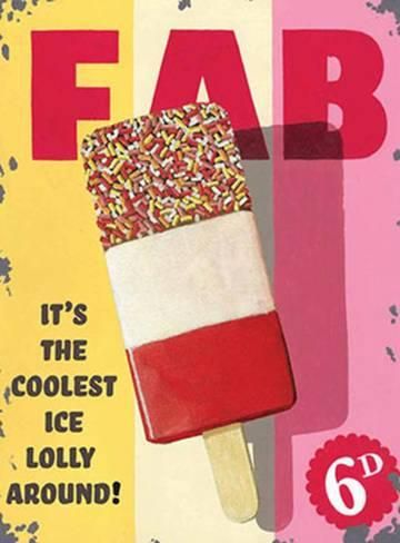 Fab Lolly Tin Sign by Martin Wiscombe - AllPosters.co.uk