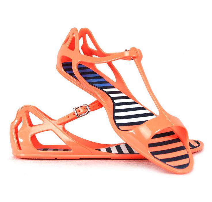 Unusual, comfortable ADIDAS sandals in beautiful orange color!
