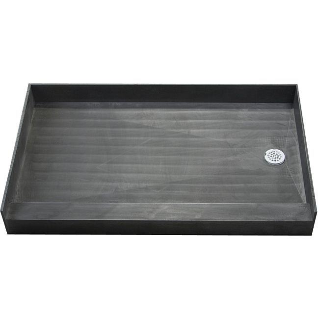 Made of a durable molded polyurethane this shower pan utilizes ribs underneath for extra strength. This shower pan is tile ready making for easy installation.