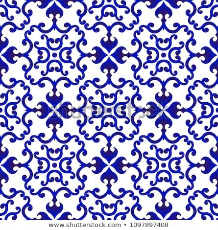 Blue And White Japan And Chinese Seamless Pattern For Design