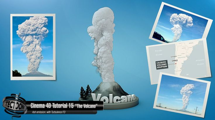 Cinema 4D Tutorial 15 The volcano Ash emission with Turbulence FD