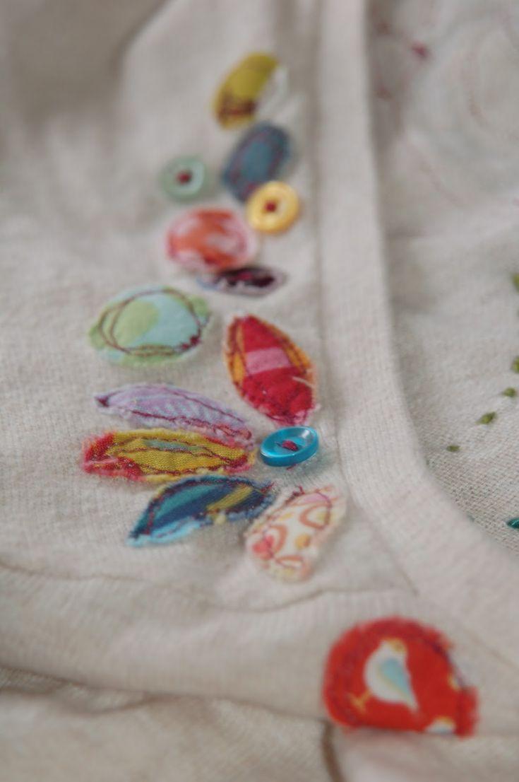 simply plain jane: tutorial: applique blossom sweater