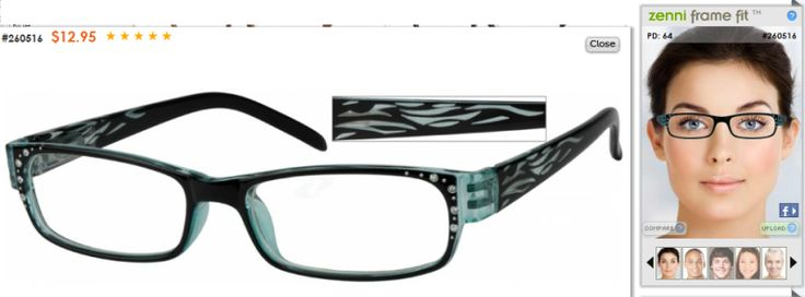Zenni Optical Crooked Glasses : Zenni Optical provides you a way to upload your photo and ...