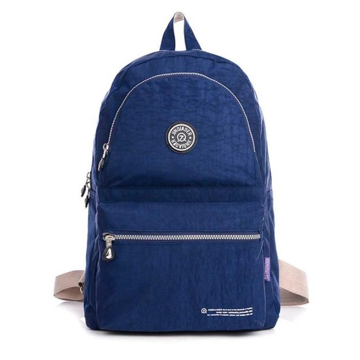 JINQIAOER 2017 Spring New Women Zipper Backpack Female Style Solid Color Fashion Nylon Waterproof School Bags for Teenager Girl - http://backtoschools.org/?product=jinqiaoer-2017-spring-new-women-zipper-backpack-female-style-solid-color-fashion-nylon-waterproof-school-bags-for-teenager-girl