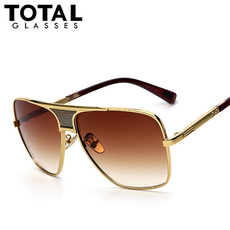 Totalglasses Men's Sunglasses Newest Vintage Oversized Frame Goggle Summer Style Brand Designer Sun Glasses Oculos De Sol UV400 #clothing,#shoes,#jewelry,#women,#men,#hats,#watches,#belts,#fashion,#style