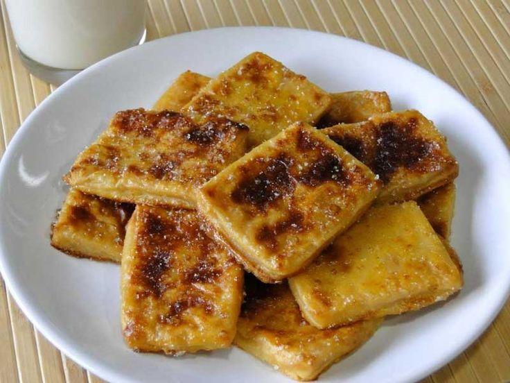 Receta de leche frita light sin azúcar, hecha al horno ¡y sin tener que freírla! Baja en grasas y apta para diabéticos, muy fácil de preparar.