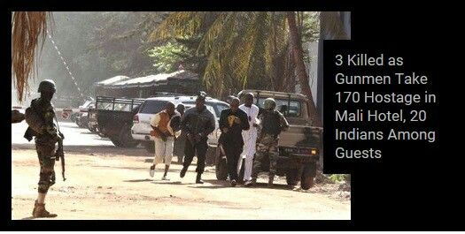 MaliTrending on TrendsToday App #Twitter (India)  20 Indians inside the luxury hotel which is under seize of gunmen in Mali's capital Bamako: MEA.  #Indians #luxury #hotel #gunmen #Mali #capital #Bamako #MEA  Visit TrendsToday.co for App