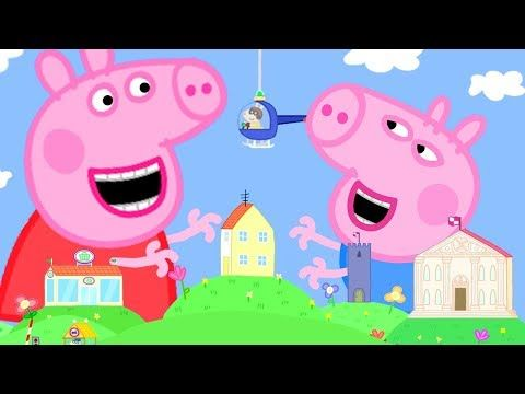 Peppa Pig Official Channel Giant Peppa Pig At The Tiny Land Youtube Peppa Pig Toys Peppa Pig Wallpaper Peppa Pig