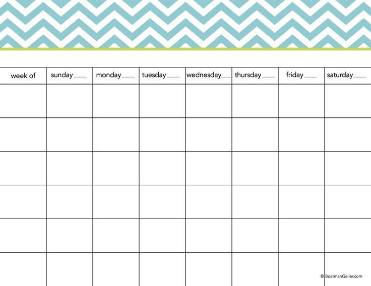 Printable Calendar Pads by Boatman Geller #Organize #Calendars