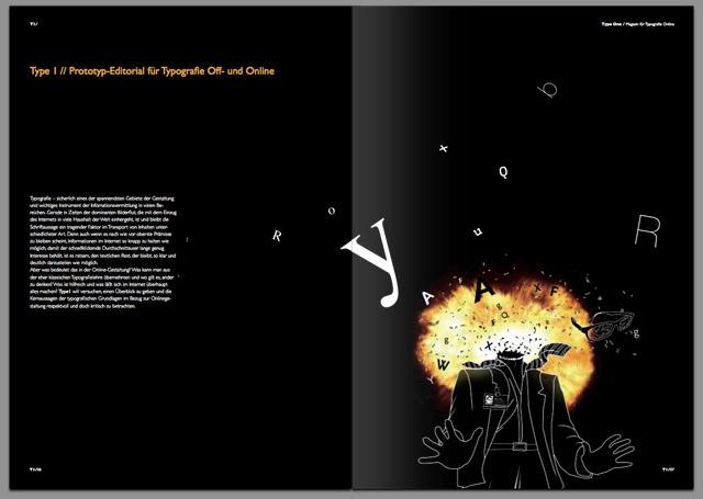 Type One – Editorial Design by David Girard, via Behance